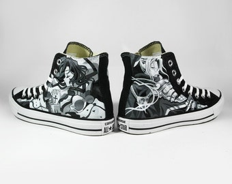 Fanart request, custom shoes, painted shoes, converse, sneakers