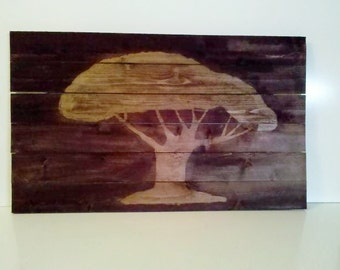 Woodart wood art tree decor wall home stained mosaic