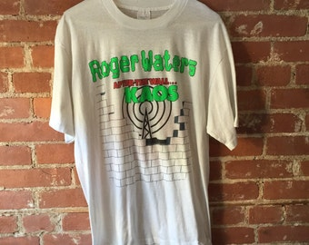 Rare Vintage Roger Waters After The Wall Kaos Concert T Shirt / Size XL