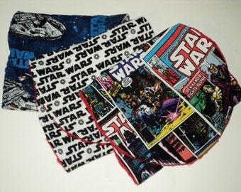 Star Wars Burp Cloths, Three Star Wars Baby Boy Or Baby Girl Burp Pads, Nerd Baby, Geek Baby, Star Wars Baby Shower Gift, Made To Order