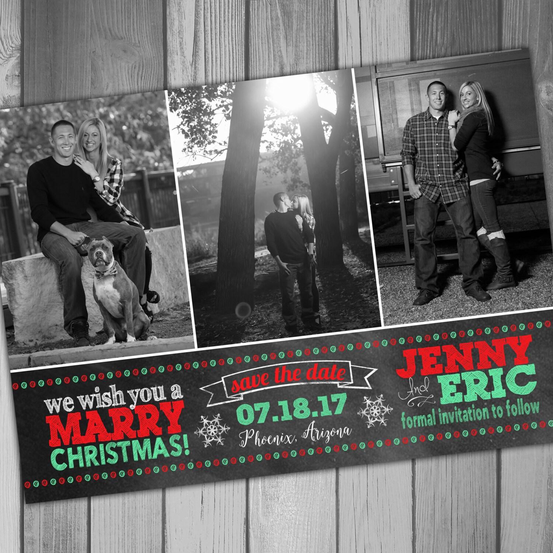 Save The Date Christmas Photo Card Holiday Card Christmas