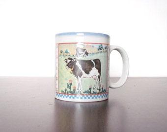 Vintage Otagiri Japan Mug Cow Fraser Collection 1980s