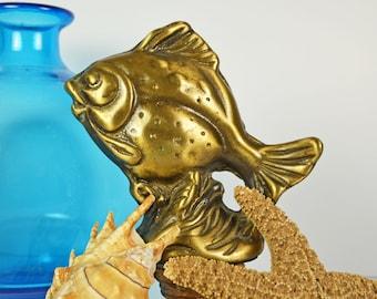 Brass Fish....Vintage Brass Statue