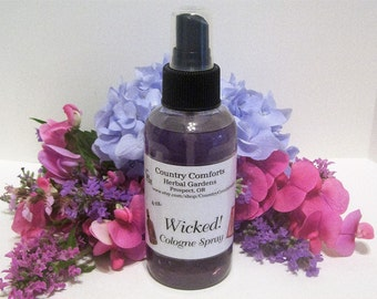 Wicked Cologne Body Spray - Perfume Spray, Scented Spray, Body Spray - 4 ounce sprayer bottle