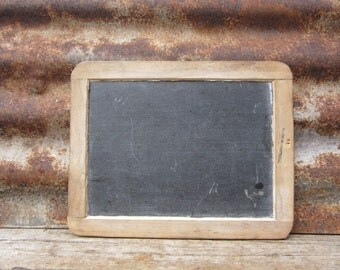 Antique School House Chalk Board Wood Slate Chalkboard Old Chalk Board VTG Rustic Sign Decor Farm House Country Kitchen Display Primitive