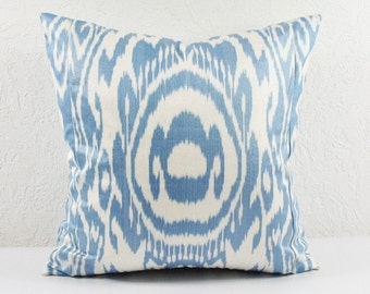 Ikat Pillow, Hand Woven Ikat Pillow Cover  spi510, Ikat throw pillows, Designer pillows, Decorative pillows, Accent pillows
