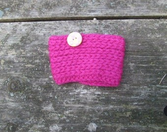 Bright Pink Coffee Cozy