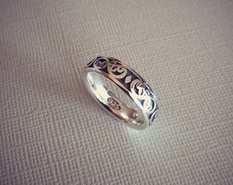 Lace Lattice 925 Sterling Silver Stack Ring