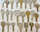 Vintage Keys for Altered Art Projects and Jewely Creations, Lot of 24