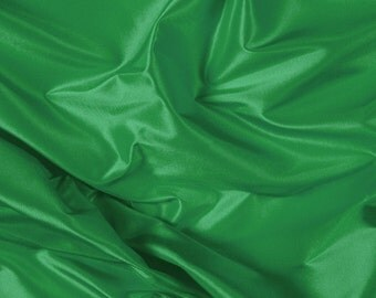 "54"" Wide 100% Silk Taffeta Green by the yard"