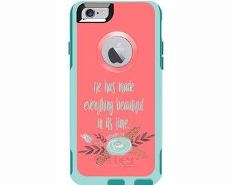 Ecclesiastes 3:11 Custom Otterbox Commuter Case for iPhone 6/6s PLUS, iPhone 6/6s, iPhone 5c, iPhone 5/5s, Galaxy S5, Galaxy Note 4