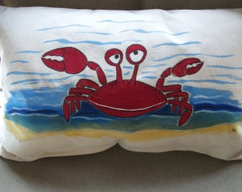 Coastal Kids ... Big Red Crab Pillow