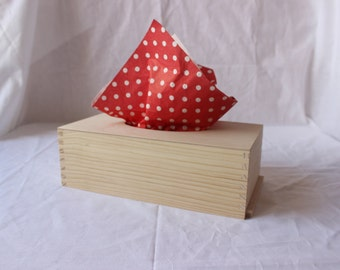 Wooden tissue box / unfinished wood tissue box cover / natural home decor / eco friendly / scandinavian home
