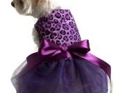 Dog Dress Purple and Black Leopard Dog Tutu Dress pet clothing dog clothing pet clothes dog apparel dog clothes