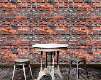 Haute Couture Brick Removable Wallpaper-Speakeasy- Peel & Stick Self Adhesive Fabric Temporary Wallpaper- Never Vinyl, Always Fabulous