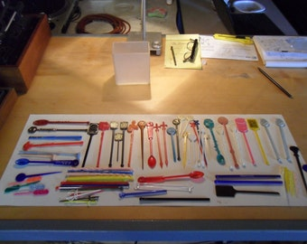 Collection of Vintage Swizzle Sticks - Las Vegas, Hotels, Pan Am , Delta,  Nashville, Trans Int Airlines and over 50 more