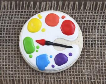 Art Party Favors // Painters Palette Party Favors // Painters Palette Sugar Cookies // Palette Sugar Cookies // Palette Favors