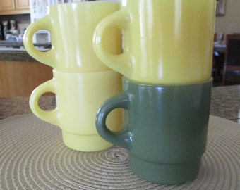 Anchor Hocking - Fire King Stacking Coffee Mugs