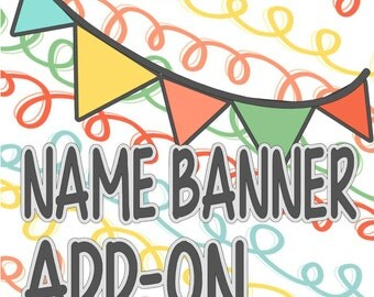 Add a Name to your Banner