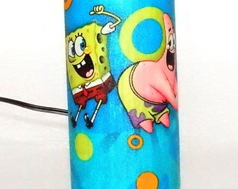 Sponge Bob Fabric & Glass Accent Lamp LCSB-15.09.1