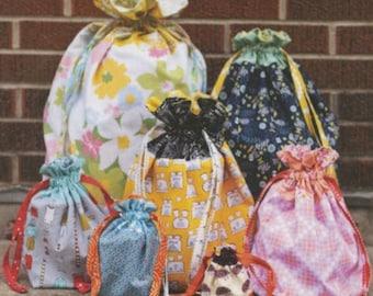 Jeni Baker - Lined Drawstring Bag Pattern (Paper)