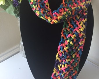 Kids Multi-Color Scarf Fall Fashion - Handmade Crochet