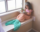 Mermaid Tail blanket crochet Toddler Child sizes choose up to 4 colors