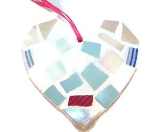 Mosaic Wall Art - Pastel Mosaic Hanging Heart
