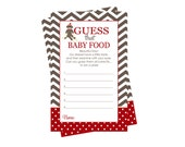 Sock Monkey Baby Food Shower Game -- Guess the Jar Food Baby Shower Printable -- Instant Download Neutral Baby Jar Food Activity Card