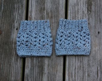 The Lilah Boot Cuffs in Blue Flecked - Ready to Ship