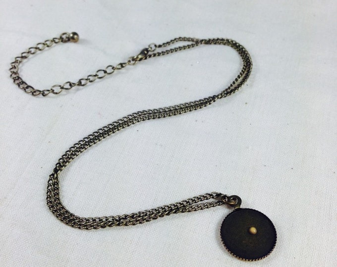 Antiqued Round Mustard Seed Faith Necklace Jewelry Matthew 17:20