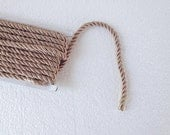 1.1 yards milky brown 5 mm twist cord, twisted , Wrapped Thread Cord, Satin Twisted cord , Decoration,Fabric Rope Trim Accent for Crafting