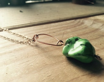 Turqoise- necklace- Nugget of Love