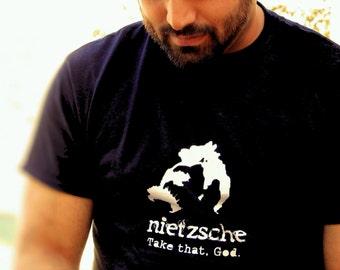 Philosophy Tee Geekery Nietzsche God Existential Literature Funny Novelty Humor T Shirt Mens