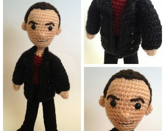 Ninth Doctor Who Amigurumi doll Crochet Pattern