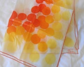 Vintage Paoli Scarf with Orange and Yellow Circles
