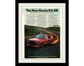 1977 MAZDA RX-3SP Car Ad, Vintage Advertisement Wall Art Decor Print