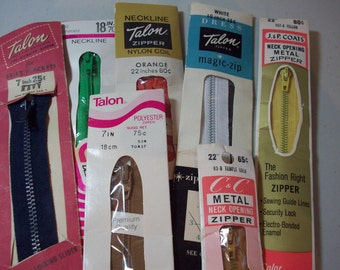 Vintage Zipper Collection - Set of 7
