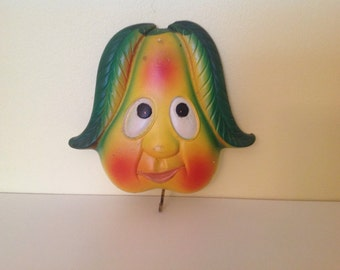Mr. Veggie Face - Chalkware Wall Plaque with Hook