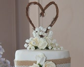 Rustic Cake Topper, Grapevine Decor
