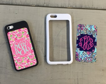 iPhone 5/5s Lilly Pulitzer inspired monogrammed cover with switchable plates ... 3 Styles  ...Choose your print, frame and mono