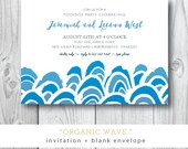 Organic Wave | Pool, Beachside Birthday, Engagement Party | Printed or Printable by DarbyCards