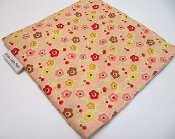 Reusable Sandwich Bag, Eco Sandwich Bag, Peach Floral Sandwich Bag, Reusable Snack Bag, Flower Sandwich Bag