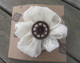 Thee Shabby Chic-Steampunk Hair Flower