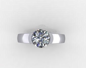 custom made engagement rings,custom design Moissanite  engagement ring,style 66WDM