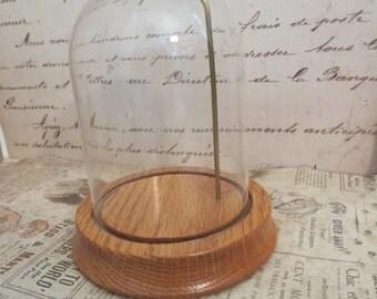 Vintage Glass Dome, Glass Cloche, Vintage Cloche, Vintage Storage,