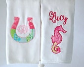 Lilly Pulitzer™ Applique Burp Cloth - Cloth Diaper Style