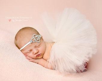 The Stassi - Crystal Rhinestone Vintage Bling in Sliver Setting Headband - Beautiful Newborn Photo Prop