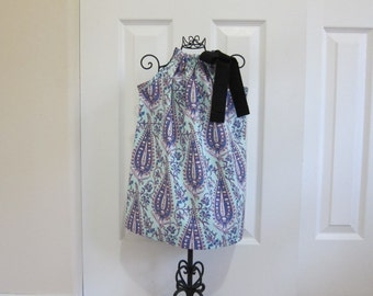 Pillowcase Dress  - SALE  -  EASTER  DRESS  - Amy Butler -  Baby Girl's 12 Month Dress  - Ready to Ship  - By Emma Jane Company