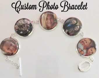 Custom Photo Bracelet or Necklace for Mother's Day!